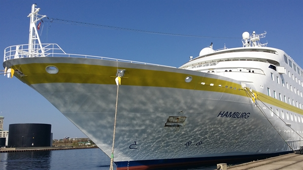Hamburg vessel docked at Port Milwaukee