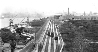 Historical Photo of rail on Jones Island